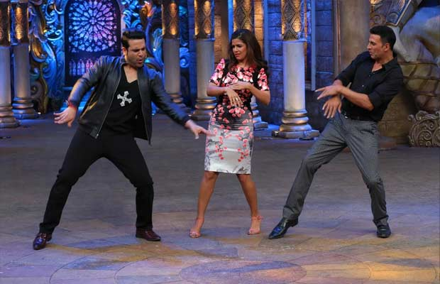 Akshay-Kumar-and-Nimrat-Kaur-will-take-off-on-a-laughter-spree-on-Comedy-Nights-Bachao-2
