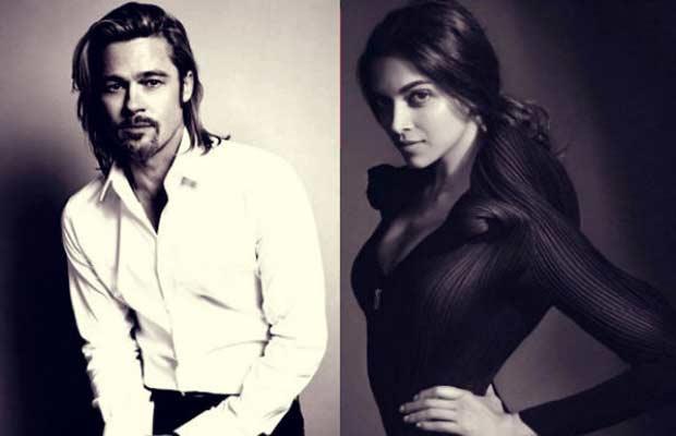 Deepika-&-Brad-Pitt