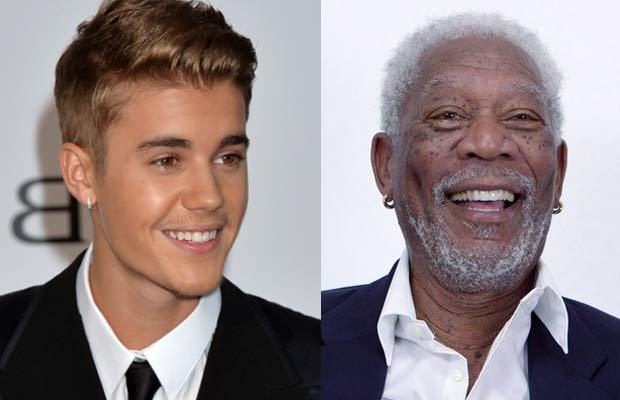 Justin-Bieber-&-Morgan-Freeman