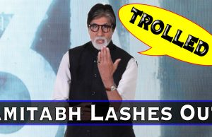 AMITABH  LASHES OUT