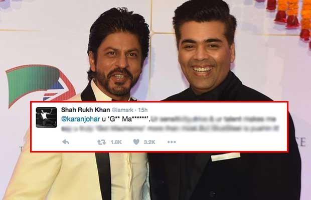 Shahrukkhan-Karanjohar-tweet-blur