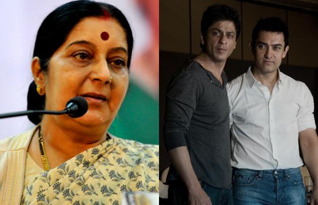 Sushma-Swaraj-Shahrukh-Khan-Aamir-Khan-2