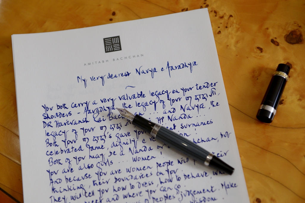 Letter page 1 with his inkpen