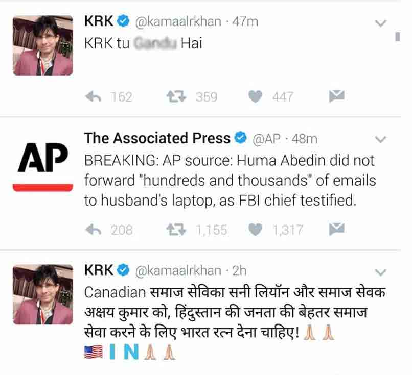 Salman Khan Fans Hack Krk S Twitter Account Here S How He Reacts Businessofcinema Com Get all the latest news and updates on krk twitter only on news18.com. businessofcinema com