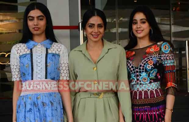 Sridevi MOm Trailer Launch Jhanvi