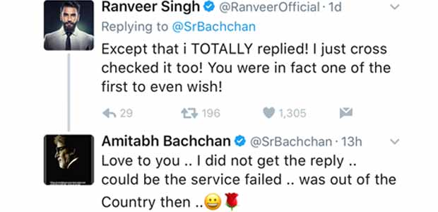 Amitabh Bachchan REACTS On Ranveer Singh's Reply To His Birthday Wish