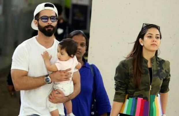 Shahid Kapoor New York with daughter Misha and wife Mira