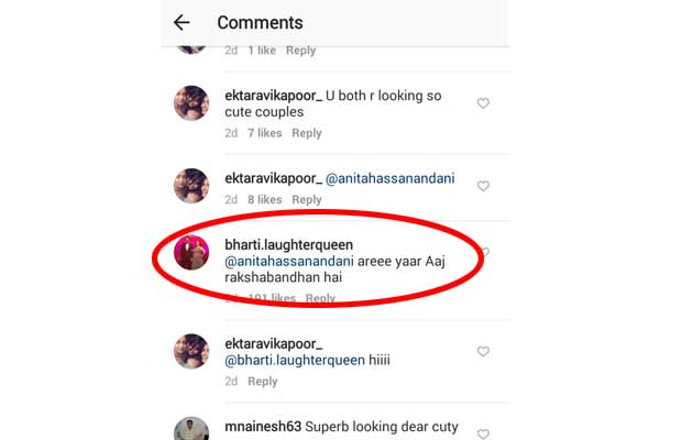 You Can't Miss Bharti Singh's HILARIOUS Comment On Anita Hassanandani's Romantic Photo With Hubby!