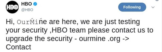 HBO Facebook, Twitter Accounts Hacked By This Group