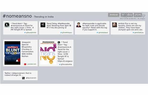 Social Media Encores 'No Means No' With Hrithik Roshan