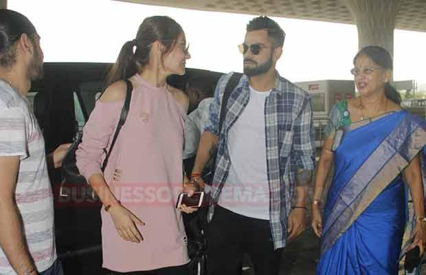 Airport Anushka Sharma Virat Kohli
