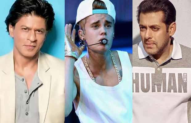 Justin Bieber Salman Khan Shah Rukh Khan