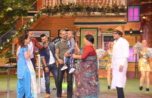 Indian cricketers at The Kapil Sharma Show