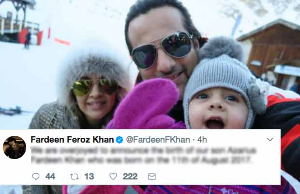 Fardeen Khan Announces The Name Of His Baby Boy, Which Has A Beautiful Meaning!