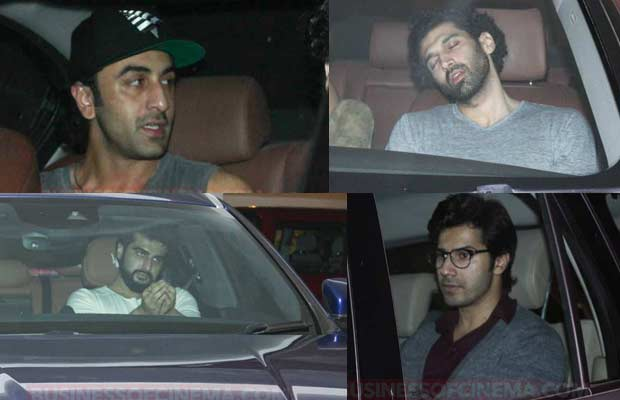 Boys Night Out: Ranbir Kapoor, Arjun Kapoor, Varun Dhawan Party Hard At Karan Johar's House