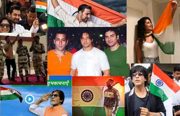 Independance Day: Aamir, Shah Rukh, Salman Khan, Ranveer, Anushka, Priyanka, Akshay, Ranveer Post Wishes!