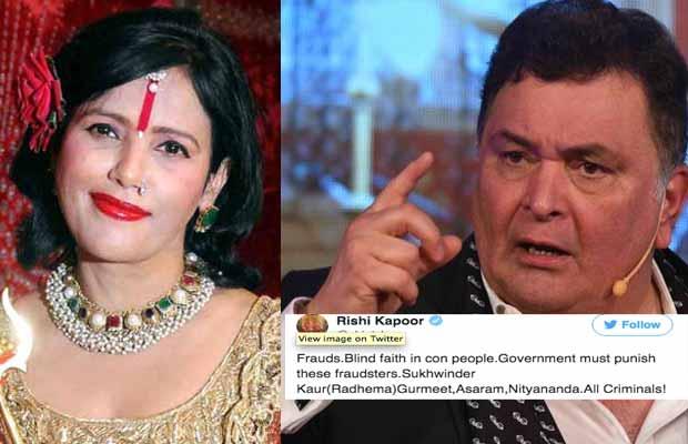 Rishi Kapoor Calls Radhe Maa A Fraudster, The Godwoman Reacts!