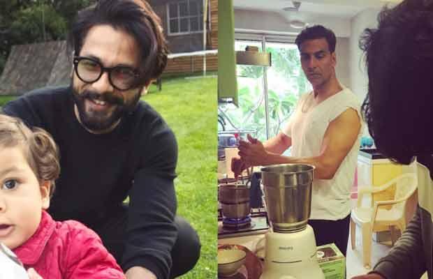 Photo Alert: Shahid Kapoor's Playtime With Baby Misha, Akshay Kumar Turns Chef With Son Aarav