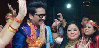 Bharti Singh And Haarsh Limbachiyaa Seek Blessings At Mata Ki Chowki