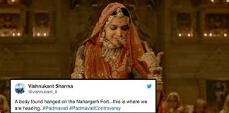 Twitter reacts to dead body with anti-padmavati slogans found hanging at jaipur fort