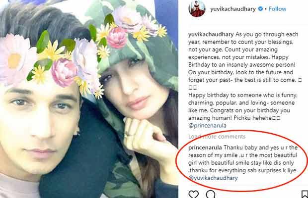Rumoured Girlfriend Yuvika Chaudhary's Adorable Birthday Wish For Prince Narula!
