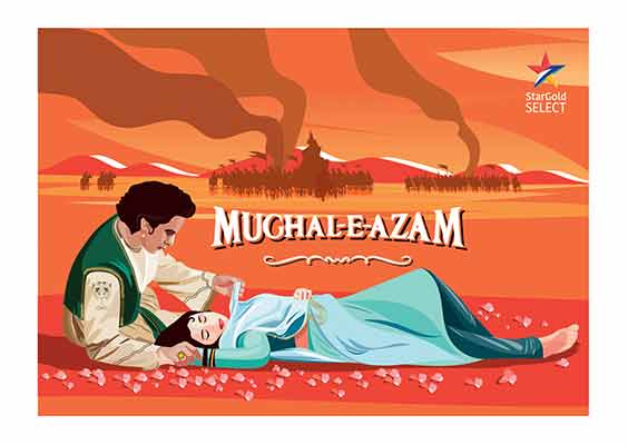 Actor Dilip Kumar and one of his most iconic movies 'Mughal-E-Azam'.