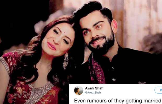 Twitterati Go Crazy Over Virat Kohli And Anushka Sharma Wedding Rumors!
