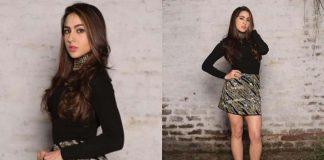 sara ali khan black dress